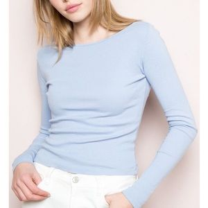 Brandy Melville baby blue top